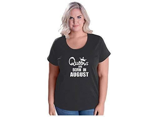 Primary image for Women's Queens are Born in August Plus Size Scoop Neck T Shirt 18-20 Smoke