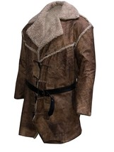 Hell On Wheels Anson Mount Cullen Bohannon Fur Shearling Brown Leather Coat image 2