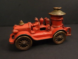 """All Original HUBLEY Fire Engine Truck 6""""1/2 Cast Iron Nickel Plated Whee... - $395.00"""