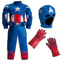 Disney Store/Marvel The Avengers Captain America Muscle Costume Size Lar... - $77.21