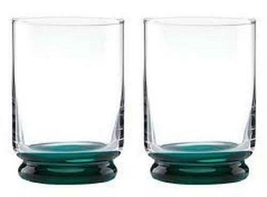 Kate Spade Charles Lane Mint DOF Whiskey Glasses Set of 4 Irish Green NEW - $52.47
