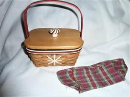 Longaberger Holiday Helper Treats Christmas Snowflake Basket 4-PC Combo - $36.85