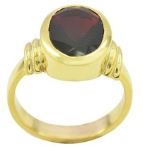 charming Ruby CZ Gold Plated Red Ring supply US gift - $10.29