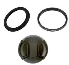 Filter Adapter FA-DC58C 5971B001 + UV Filter + Cap Canon PowerShot G1 X - $14.36