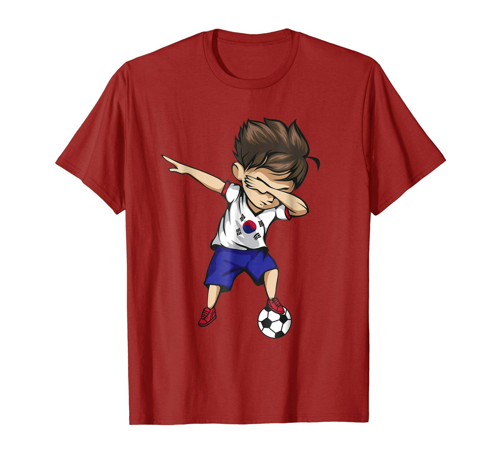 Primary image for Dad Shirts - Dabbing Soccer Boy South Korea Jersey Shirt Korean Football Men