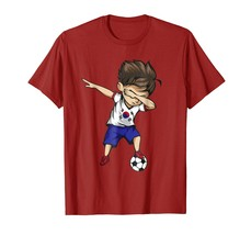 Dad Shirts - Dabbing Soccer Boy South Korea Jersey Shirt Korean Football Men - $19.95+