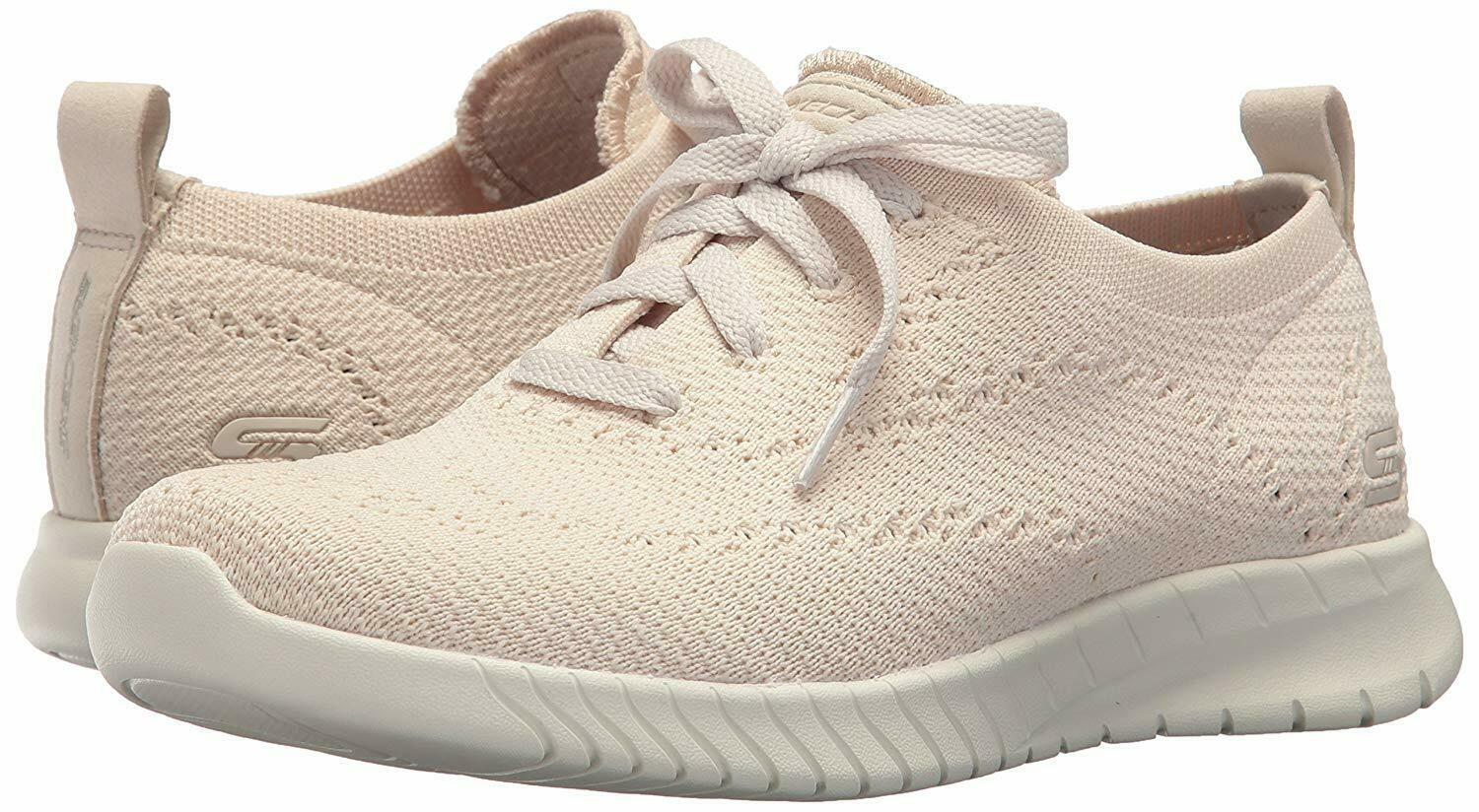 NEW Skechers Womens Natural Mesh Wave Lite-Pretty Philosophy Memory Foam Shoes 9 image 7