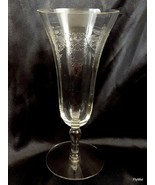 Maryland Glass Basket Etch Parfait Glass 6 oz Clear Paneled Optic ca 1930 - $7.13