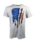 VERTICAL FLAG USA ADULT GRAY T-SHIRT M L XL 2XL PATRIOTIC OLYMPICS FREE ... - $9.99