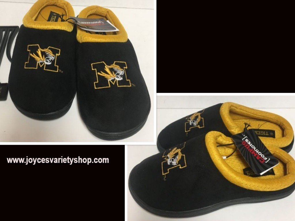 University of Missouri Tigers Men's Cushion Memory Soles Slippers Shoe +Sizes image 1