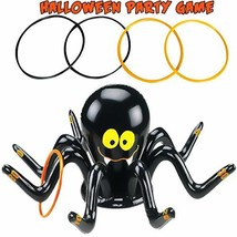 Halloween Party  Ring Toss Game, Inflatable Black Spider with 4 Pcs Ring... - $12.75