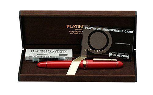 PLATINUM Fountain Pen PRESIDENT PTB-20000P#10 Wine red Fine