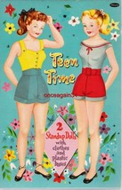 VINTAGE UNCUT 1950's TEEN TIME JILL & JOAN PAPER DOLLS~#1 REPRODUCTION~P... - $19.99