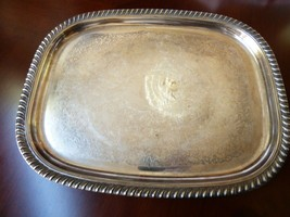 "VTG Leonardo Silver Plated metal Italy  Serving Tray Platter 17.5"" x 14"" - $51.48"