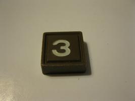 1968 3m bookshelf Quinto Board Game Piece: Brown #3 Square - $1.00