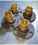 4 x Iron Metal Floor / Wall Mount with 15 mm brass Fittings  - $20.90