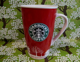 STARBUCKS Coffee Mug Cup Souvenir Collectible HOLIDAY 2006 RED - $14.95
