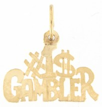 #1 gambler Unisex 14kt Yellow Gold Charm - $49.00