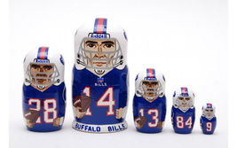 "Buffalo Bills nesting doll matryoshka doll babushka 5 pc, 6"" - $59.90"