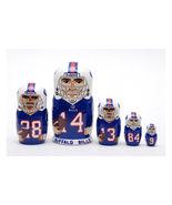 """Buffalo Bills nesting doll matryoshka doll babushka 5 pc, 6"""" - $59.90"""