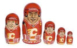 "Calgary Flames nesting doll matryoshka doll babushka doll 5 pc, 6"" - $59.90"
