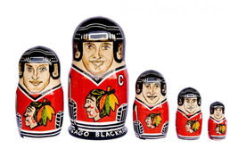 "Chicago Blackhawks nesting doll matryoshka doll babushka doll 5 pc, 6"" - $59.90"