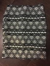 Liz Claiborne 6 Pencil Skirt Lace Print Career Dress Skirt Lined Knee Le... - $14.99
