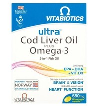 Ultra Cod Liver Oil plus Omega-3 - 60 capsules - 4 Pack - $94.76