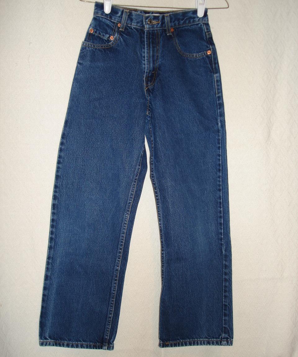 Levi levis 569 jeans boys size 14 denim pants kids for Boys pants and shirts