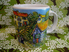 STARBUCKS Coffee Mug Cup Souvenir Collectible BARISTA 2001 HOUSES COTTAGES - $14.95