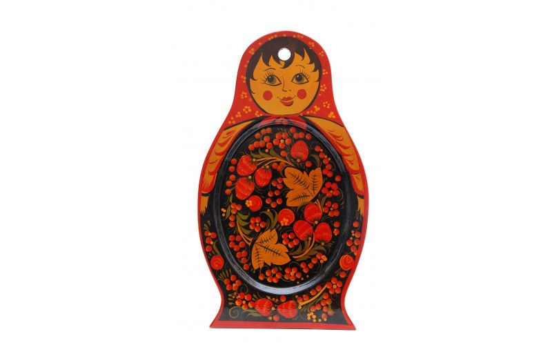Hohloma handmade and handpainted tray pressed wood