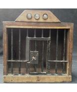 Prison Model Alcatraz Folk Art Model Working Jail Cell Door With Key  - $1,751.50