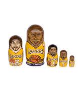 "Los Angeles Lakers nesting doll matryoshka babushka doll 5 pc, 6"" - $59.90"