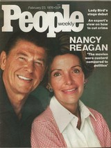 People Weekly Magazine February 23 1976 Ronald & Nancy Reagan - $29.69