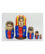 "Matryoshka nesting doll babushka doll Barcelona 5 pc, 6"" - $69.90"
