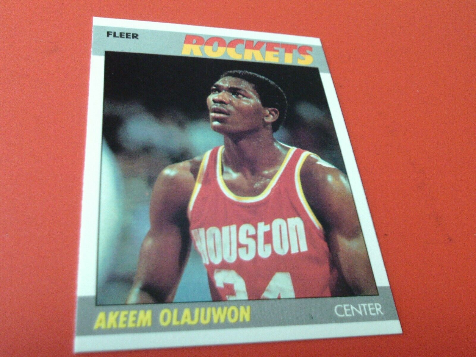 Primary image for 1987   AKEEM  OLAJUWON   FLEER   ROCKETS  BASKETBALL  # 80    MINT / MINT +  !!
