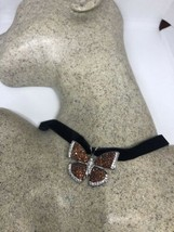 Vintage Genuine Garnet 925 Sterling Silver Butterfly Choker Necklace - $153.45