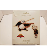 Hallmark 2008 Dreamworks Kung Fu Panda Po And Shifu Keepsake Ornament W/Box - $7.25