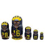 """Michigan Wolverines nesting doll matryoshka doll, babushka 5 pc, 6"""" - $59.90"""