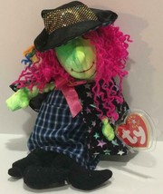 """Ty Beanie Baby """"Scary"""" Cute Green Faced Witch Brand New With Mint Tags, Pristine - $6.92"""