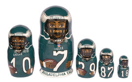 "Philadelphia Eagles nesting doll matryoshka doll, babushka doll, 5 pc, 6"" - $59.90"