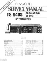 Kenwood TS-940s Service Manual CDROM - $9.99