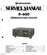 Kenwood R-600 Service Manual CDROM - $9.99