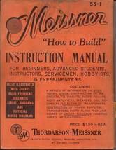Meissner How to Build Instruction manual CDROM - $9.99