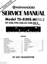 Kenwood TS-830S Service Manual * PDF * CDROM - $9.99