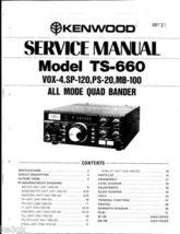 Kenwood TS-660 Service Manual CDROM - $9.99