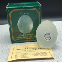 1981 GOEBEL GLASS CRYSTAL ANNUAL EASTER EGG figurine limited edition D59... - $39.55