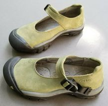 Keen Womens Mary Jane 7.5 Buckle Strap Green Suede Slip On Trail Shoes 38 image 3