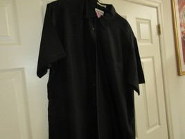 ALFANI ,  XL , Men's Short Sleeve Shirt  , Made in Korea , Black , Fine ... - $29.95