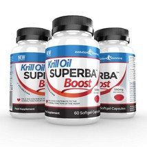 Krill Oil Superba Boost 590mg Krill Oil Softgels 180 Capsules - $77.99